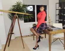 Load image into Gallery viewer, College Girl Plaid Pencil Skirt