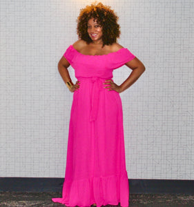 Hot Pink Hottie Maxi Dress