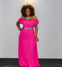 Load image into Gallery viewer, Hot Pink Hottie Maxi Dress