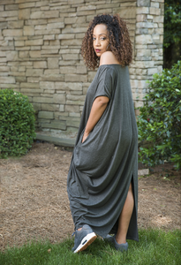 Comfy & Cozy Dress - Grey