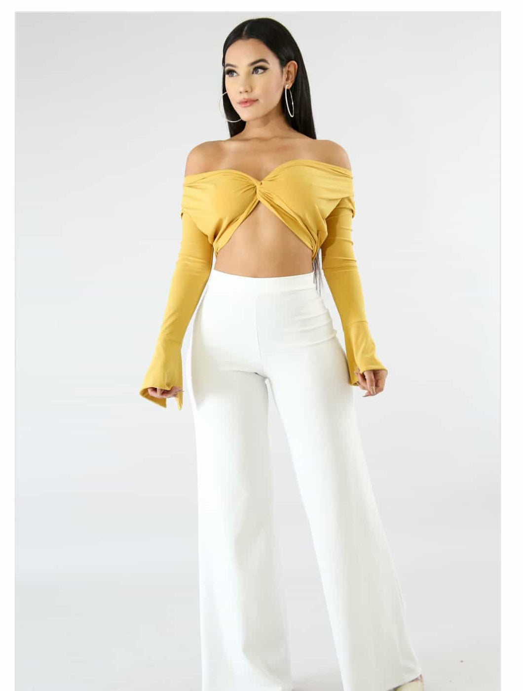 Twist It Crop Top - Golden