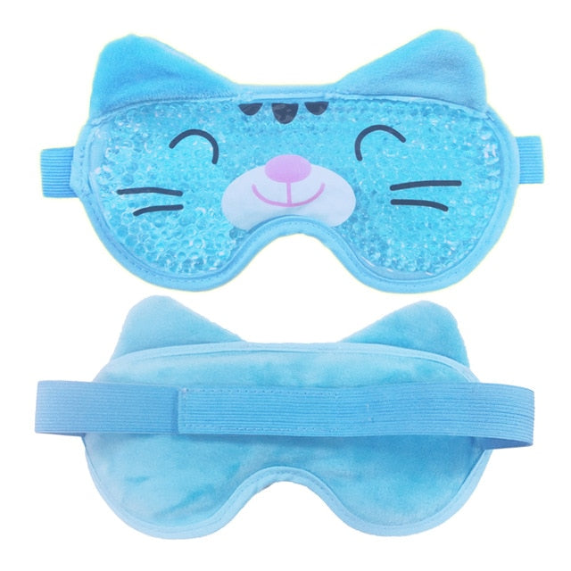 New Gel Eye Mask Reusable Beads for Hot Cold Therapy Soothing Relaxing Beauty Gel Eye Mask Sleeping Ice Goggles Sleeping Mask
