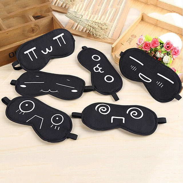 Portable Soft Eye Mask Black Fast Sleeping Eyeshade Cover Eye Masks Shade Patch Women Men Blindfold Travel Sleepmasker