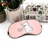 1pc Creative Lovely Cotton Sleeping Mask Eyepatch Eye Cover For Travel Relax Sleeping Aid Eye Patch Shading Eye Mask