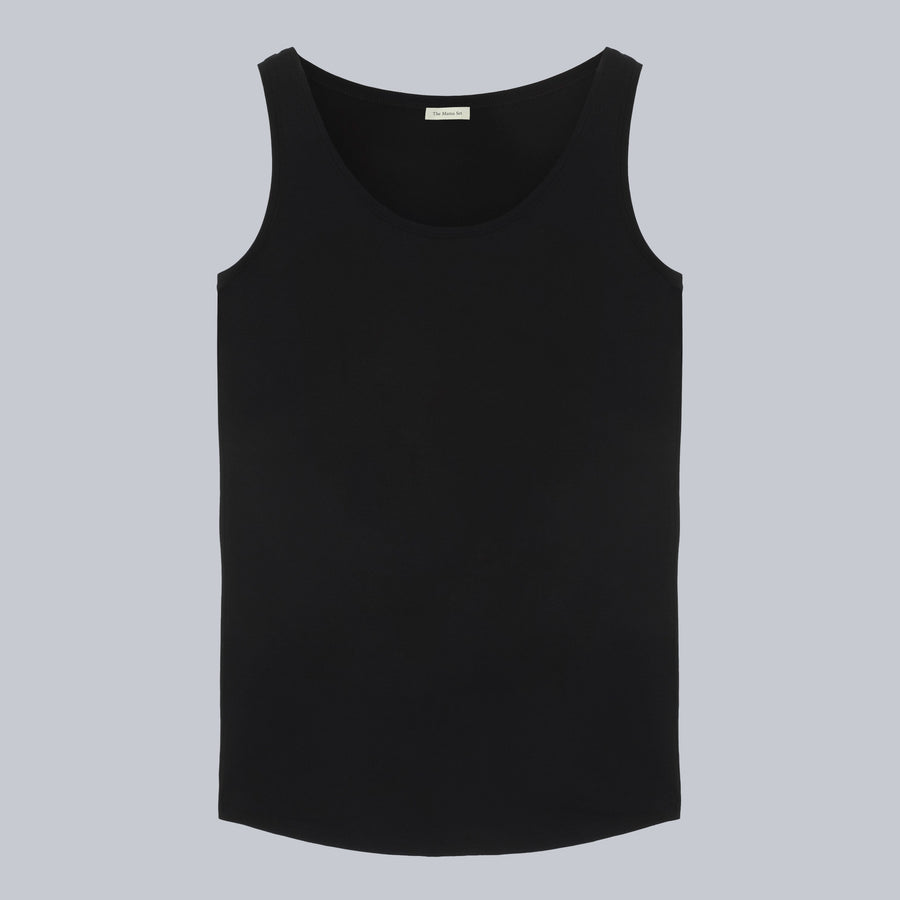 The Tank - Maternity Tank Top Black, By The Mama Set
