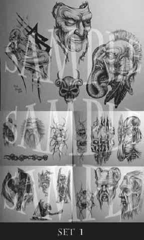 Paul Booth, Tattoo Flash Set 1