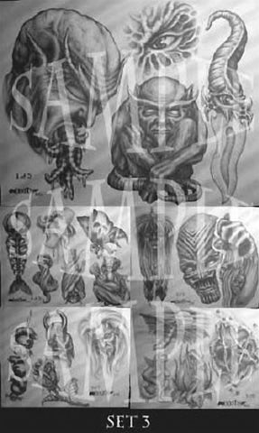 Paul Booth, Tattoo Flash Set 3