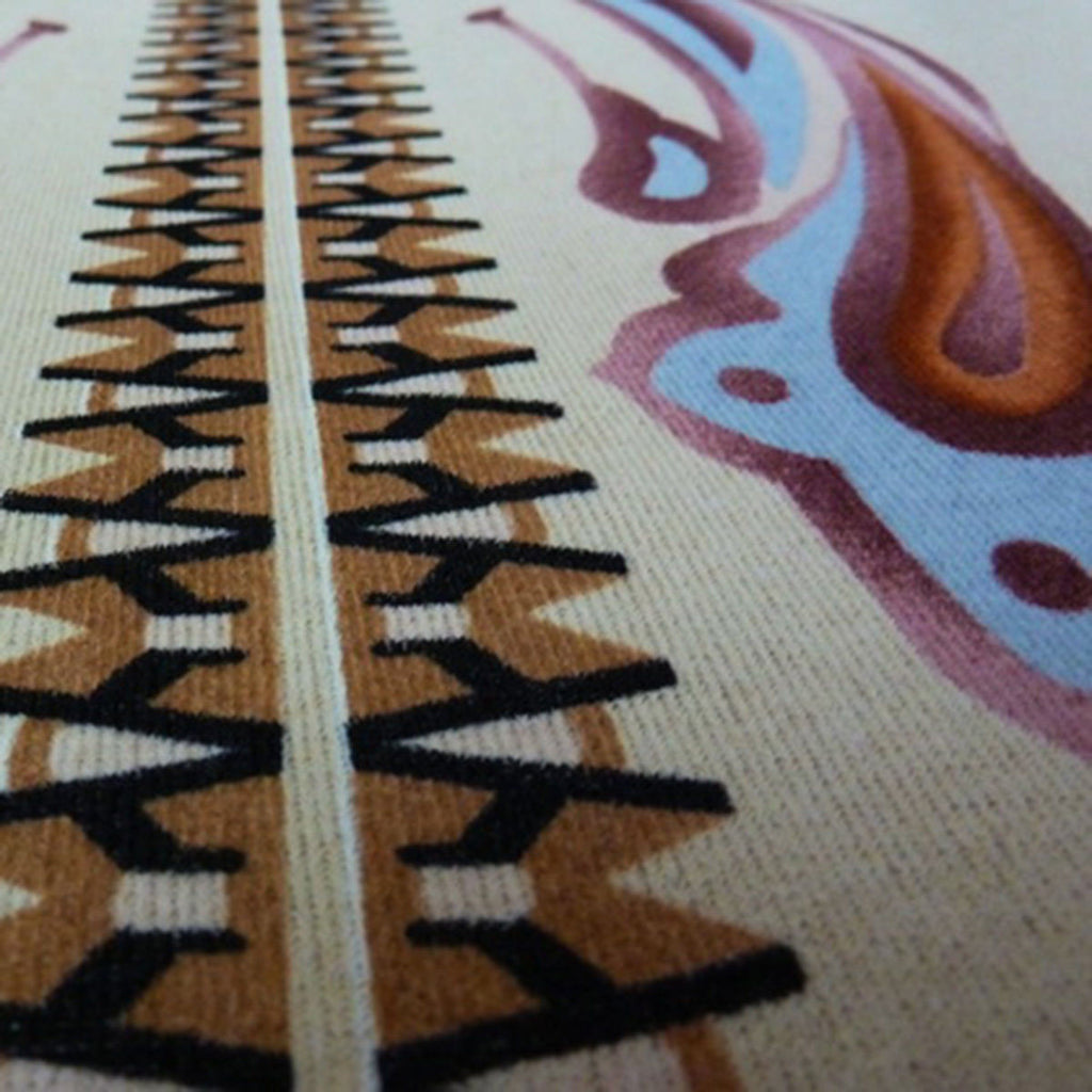Ethnic Border Wool Type Knit Panel Print - The Textile Centre