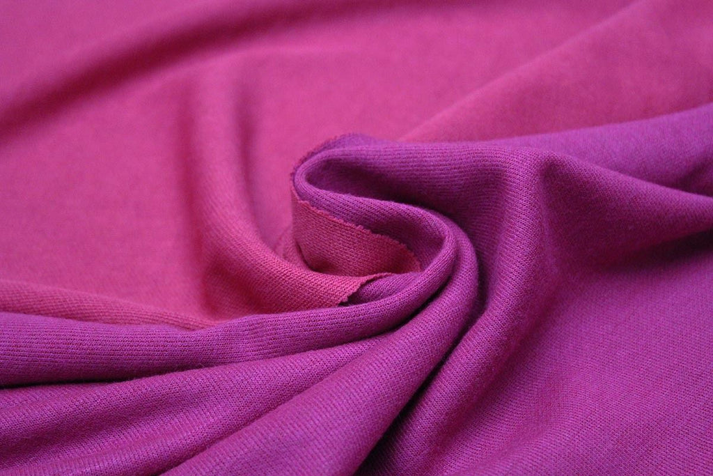 Reversible Mid Weight Wool Type Knit Dress Fabric Material (Pink/Magenta)