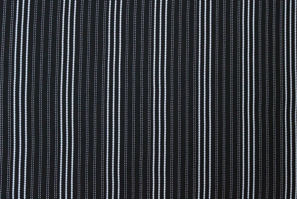 Serrated & Dotted Stripes Print 100% Viscose Voile Dress Fabric Material - The Textile Centre