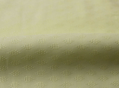 Ditsy Diamonds 100% Spun Viscose Dobby Jacquard Dress Fabric Material (Lemon)