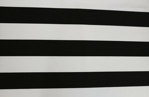 Fashionable Black & Ivory Thick Stripes Cotton Poplin Dress Fabric Material