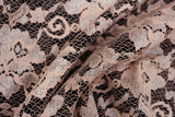 Pink & Pearlescent Stunning Scalloped Edge Floral Lace Dress Fabric Material