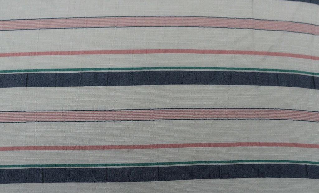 Candy Stripes Print Washed Polyester Blend Shirting Dress Fabric Material - The Textile Centre