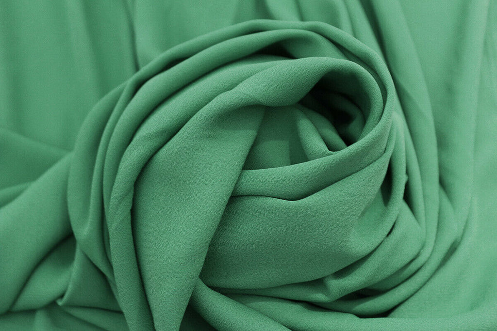 Plain Graceful Simple Jungle Green Print Georgette Dress Fabric Material