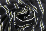 Funky Vertical Belt Sweet Stripes Print 100% Spun Viscose Dress Fabric Material - The Textile Centre