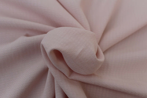 Ditsy Trellis 100% Spun Viscose Jacquard Dress Fabric Material (Dusty Pink)
