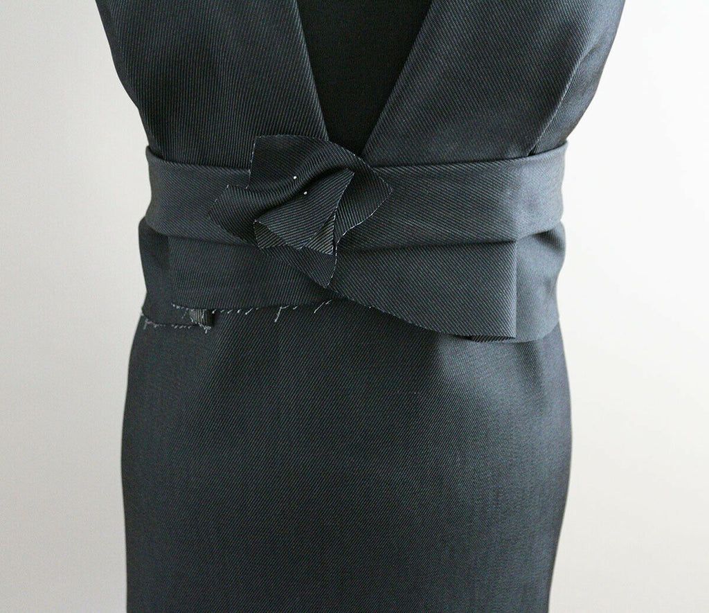 Mid Weight Darkest Dirty Blue Unwashed Rigid Denim Dress Fabric Material (D9) - The Textile Centre