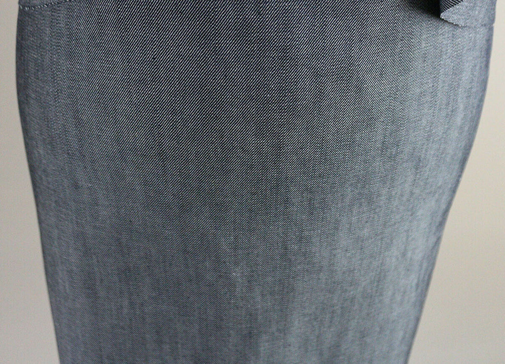 Mid Weight Edgy Mixed Grain Unwashed Rigid Denim Dress Fabric Material (D8) - The Textile Centre