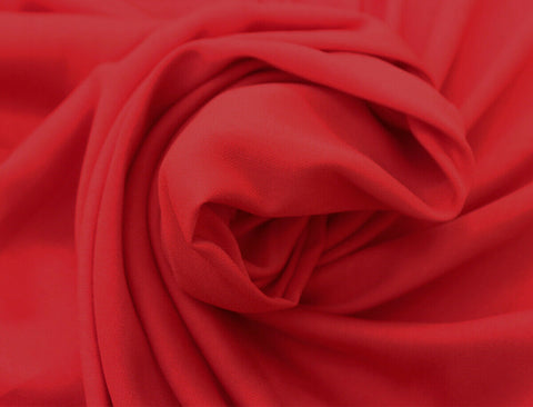 Lovely 100% Polyester Wool Peach Plain Dyed Real Red Dress Fabric Material