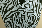 Fun Pastel Zebra Soft Polyester Marocain Dress Fabric Material (Blue)
