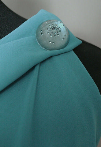 Charming Plain Washed Chiffon Dress Fabric Material (Washed Sea Green)