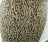 Natural Wild Leopard Silky Foiled Skin Plisse Poly Jersey Dress Fabric Material - The Textile Centre