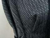 Simple Geometric Pewter Boxes Crepe Type Jacquard Suiting Dress Fabric Material - The Textile Centre