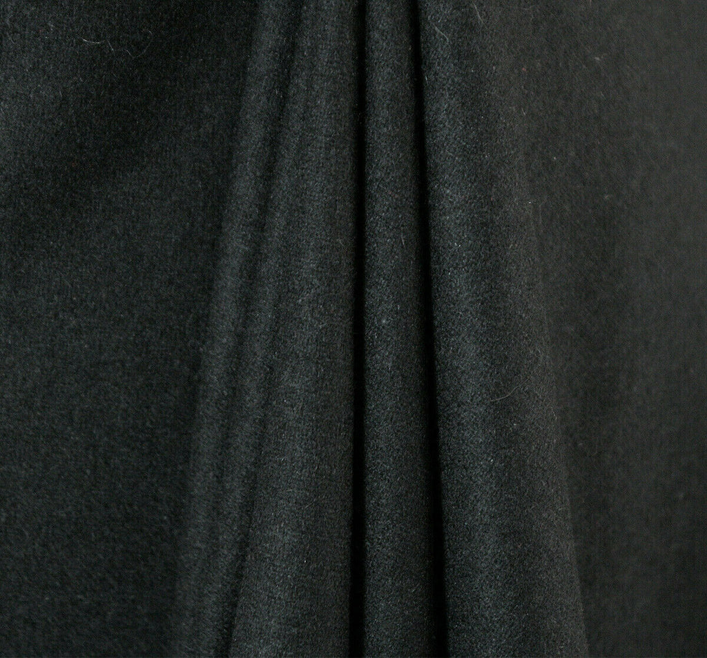 Dense Weave Black Felt Type Poly Wool Coating Dress Fabric Material (24)