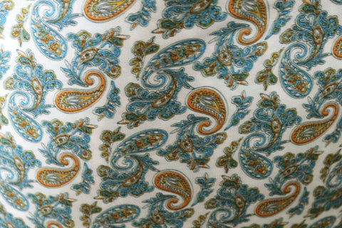 SALE!!! 80's Vintage Inspired Paisley American Crepe Type Dress Fabric Material(Ivory)