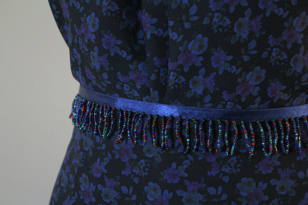 Mystifying Hazy Blue Little Cluster Floral Georgette Dress Fabric Material
