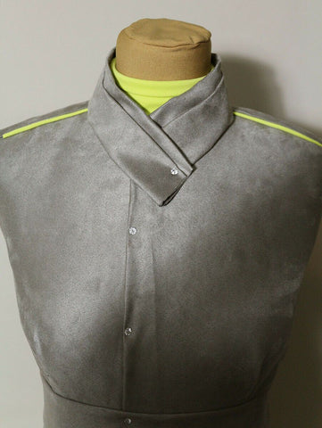 *Limited Stock!!!* Plain Silver Grey Tactile Faux Suede Dress Fabric Material