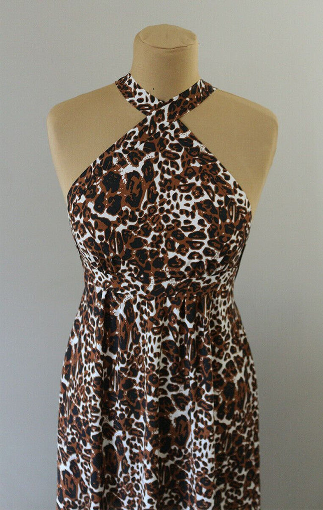 Abstract Ferocious Leopard Powder Soft Viscose Voile Dress Fabric Mate The Textile Centre