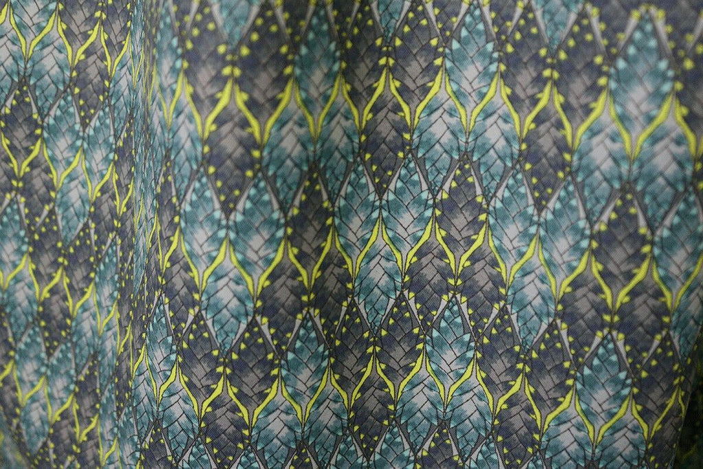 'It's A Liberty' Moroccan Pine Cone Matte Poly Lining Dress Fabric Material - The Textile Centre