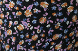 Fanciful Splodge Floral Print 100% Spun Viscose Dress Fabric Material - The Textile Centre