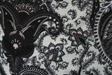 Dark & Mysterious Paisley Print Viscose Elastane Jersey Dress Fabric Material - The Textile Centre
