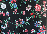 Sweet & Modern Floral Print Smooth & Soft Peach Skin Dress Fabric Material - The Textile Centre