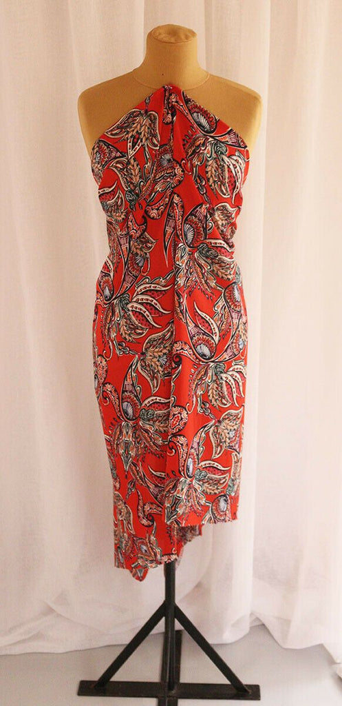 Stunning Abstract Floral Leaf Print Georgette - The Textile Centre
