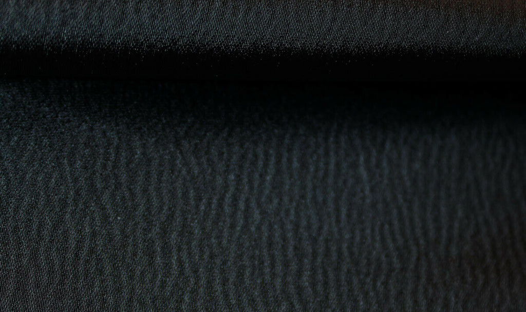 Halloween Special Light Weight Smooth Satin Dress Fabric Material (Black)