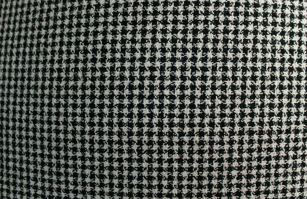 Light Weight Ditsy Hounds Tooth Polyester Viscose Suiting Dress Fabric Material