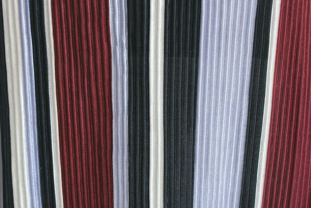 Fanatical Striped Silky Plisse Super Crinkle Poly Jersey Dress Fabric Material