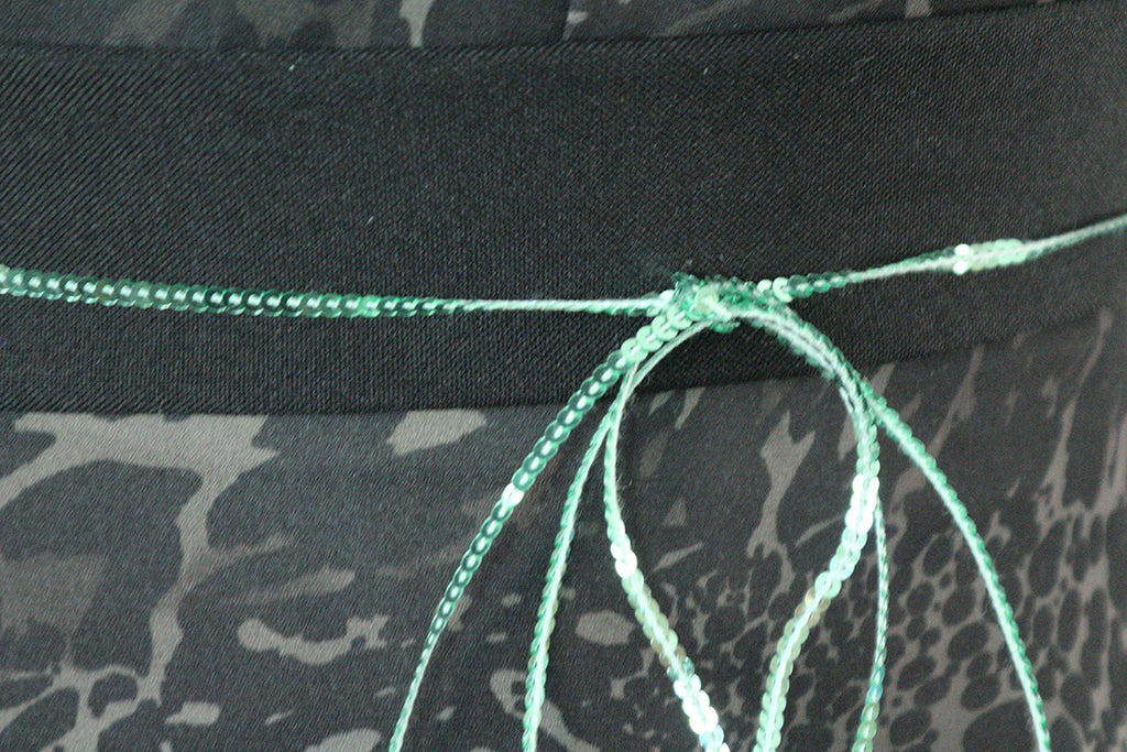 Teeny Tiny 2mm Strung Single Tone Sequin Dress Fabric Trimming (Green Mermaid)