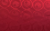 Circled Circles Silky Jacquard Lining Dress Fabric Material (Sultry Red) - The Textile Centre