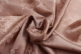 Sketched Roses Silky Jacquard Lining Dress Fabric Material (Soft Salmon) - The Textile Centre