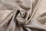 Sketched Roses Silky Jacquard Lining Dress Fabric Material (Soft Champagne) - The Textile Centre