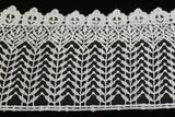 Ivory Thick Floral Stem Macramè Guipure Lace Edging Trimming Fabric (Lace 1)