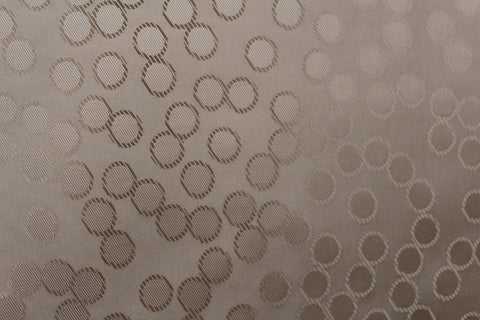 Bouncing Bubbles Silky Jacquard Lining Dress Fabric Material (Golden Champagne)