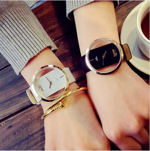 Runerr Women Bracelet Watch Leather Crystal Wrist Watch Women Dress Ladies Quartz Watches relogio feminino Dropshiping zegarki d