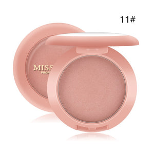12Colors MISS ROSE Blush Makeup Blush Contour Peach Peach Waterproof Long-lasting Brightening Complexion Foundation Powder TSLM1