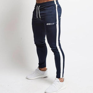 2019 Fashion Men Gyms Pants Joggers Fitness Casual Long Pants Men Workout Skinny Sweatpants Jogger Tracksuit Cotton Trousers